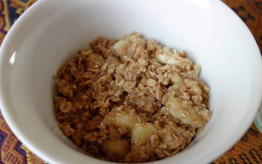 Bananen Dinkel Porridge