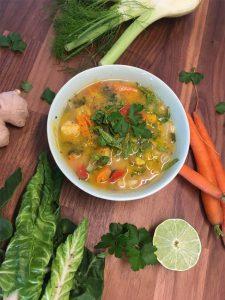Ayurvedische Sommergemüse Suppe