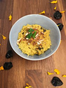 Goldene Milch Porridge (vegan)