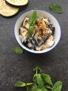 Auberginencreme mit Joghurt (Vegan)