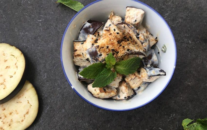Auberginencreme mit Joghurt