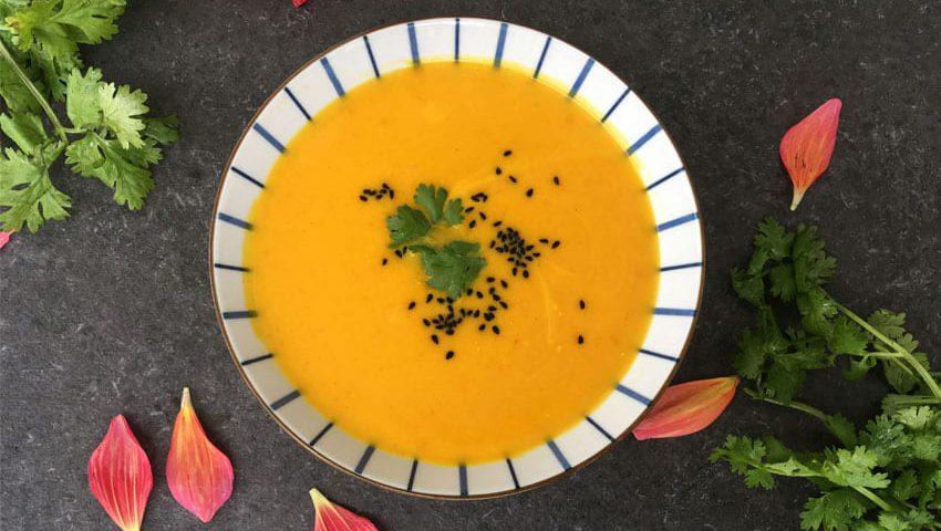 Kürbissuppe mit Safran