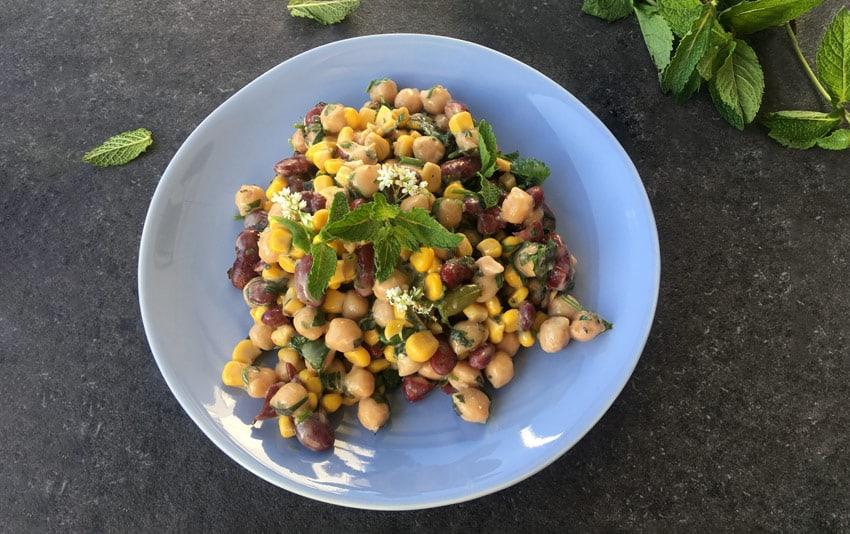 Hülsenfrüchte Salat (vegan)