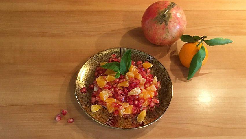Ayurvedischer Granatapfel Salat
