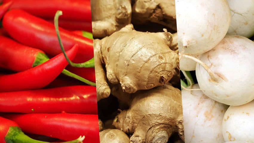 Scharfe Lebensmittel im Ayurveda