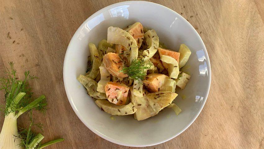 Aromatisches Süßkartoffel-Fenchel-Gemüse