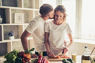 Lecker kochen, glücklich sein und das Leben genießen