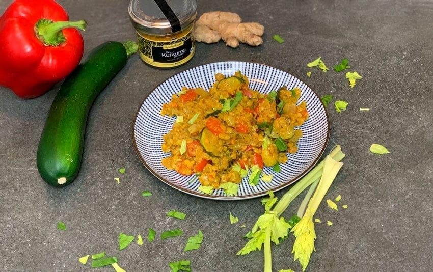 Linsen-Gemüse-Pfanne