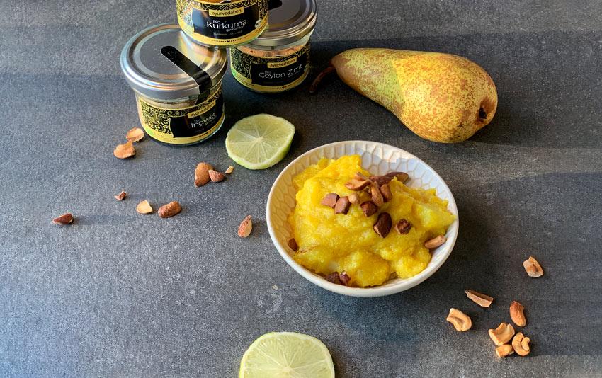 Birnen-Zitronen-Polenta